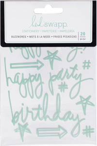 Bilde av Heidi Swapp - 315180 - Epoxy Stickers - Birthday Blue Mint