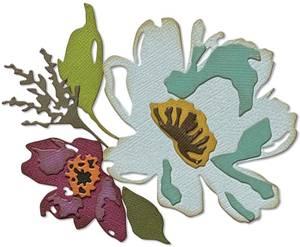 Bilde av Sizzix - Thinlits - 665360 - Brushstroke Flowers #3