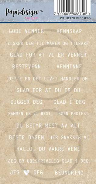 Papirdesign - Klistremerker - 18370 - Vennskap
