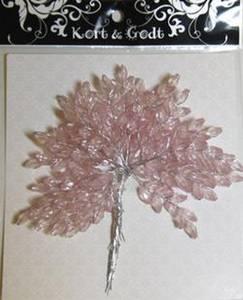 Bilde av Kort & Godt - Pyntegren m/ krystaller - rosa - 0698