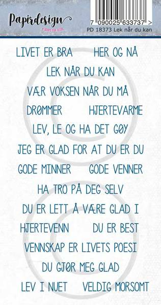 Papirdesign - Klistremerker - 18373 - Lek når du kan