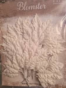 Bilde av Papirdesign - Blader hvit - ca 3 cm