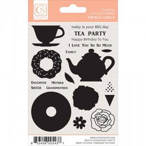 Bilde av CHICKANIDDY CRAFTS - TWIRLY GIRLY - STAMPS - TEA PARTY