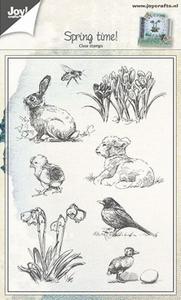 Bilde av Joy Crafts - Clear stamps - 6410-0441 - Spring Animals & Flowers