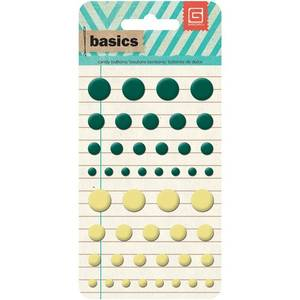 Bilde av BASIC GREY - BASICS CANDY BUTTONS EPOXY - DARK GREEN & BUTTER -