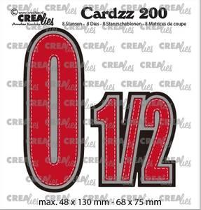 Bilde av Crealies - Dies - Cardzz 200 - Numbers 0 and 1/2