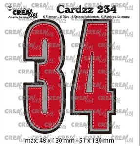 Bilde av Crealies - Dies - Cardzz 234 - Numbers 3 and 4