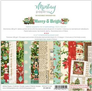 Bilde av Mintay - MBR - 6x6 Paper Pad - Merry & Bright