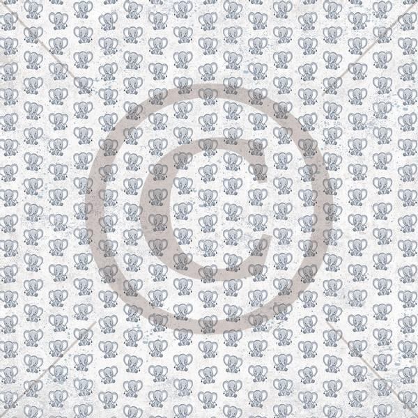 Papirdesign PD1900328 - Håpefull - Elefant, blå