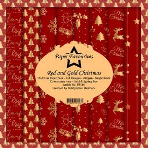 Bilde av Paper Favourites - 6x6 Paper Pad - PF146 - Red and Gold Christma