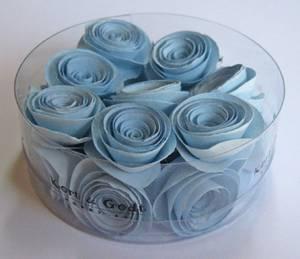 Bilde av Kort & Godt - Blomst snurret L - lysblå - 2640