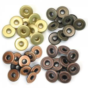 Bilde av We R Memory Keepers - Wide Eyelets - Warm Metals - 40 stk