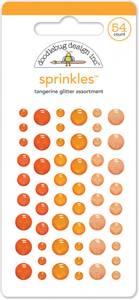 Bilde av Doodlebug - 4536 - Sprinkles - Glitter dots - Tangerine