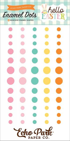 Echo Park - Enamel Dots - Welcome Easter - 60 stk
