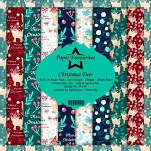 Bilde av Paper Favourites - 6x6 Paper Pad - PF148 - Christmas Deer