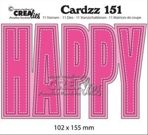 Bilde av Crealies - Dies - Cardzz 151 - HAPPY (Cardsize)