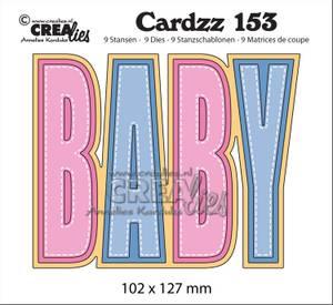 Bilde av Crealies - Dies - Cardzz 153 - BABY (Cardsize)