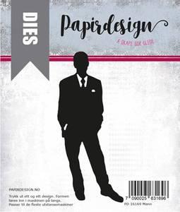 Bilde av Papirdesign Dies PD16169 - Mann