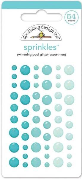 Doodlebug - 4539 - Sprinkles - Glitter dots - Swimming Pool