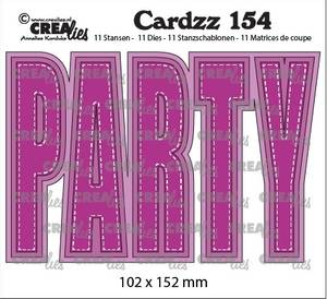 Bilde av Crealies - Dies - Cardzz 154 - PARTY (Cardsize)