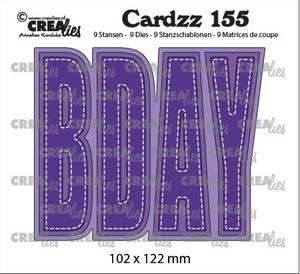 Bilde av Crealies - Dies - Cardzz 155 - BDAY (Cardsize)