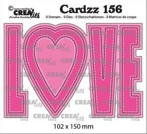 Bilde av Crealies - Dies - Cardzz 156 - LOVE (Cardsize)