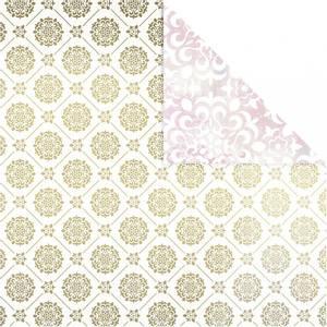 Bilde av Vivi Gade - Designpapir - Hvit, gull, fliser & akvarell - 3 ark