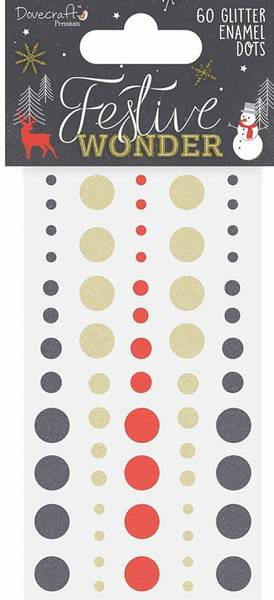 Dovecraft - Glitter Enamel Dots - Festive Wonder