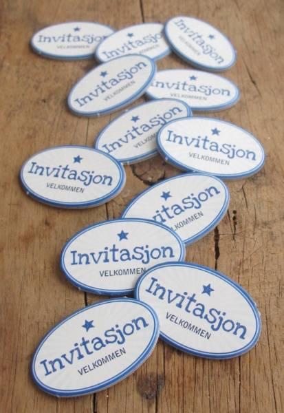 Papirdesign - Chipboards - 627 - Invitasjon blå