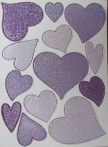 Bilde av Papirdesign - Chipboards - 636 - Hjerter lilla