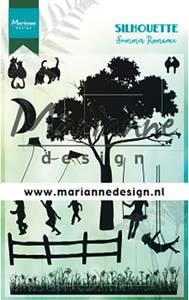 Bilde av Marianne Design - CS1032 -Clearstamp - Silhouette Summer romance
