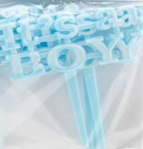 Bilde av Baby Shower - It's a Boy picks - Blue - 4 stk