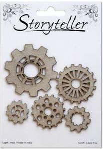 Bilde av Storyteller - Chipboardfigurer - Tannhjul