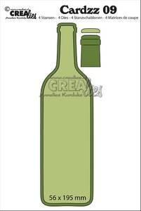 Bilde av Crealies - Dies - Cardzz   9 - Bottle of wine (cardsize)