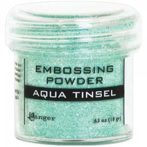 Bilde av Ranger - Embossing powder - Aqua Tinsel