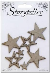 Bilde av Storyteller - Chipboardfigurer - Stjerner