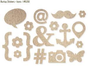 Bilde av Simple Stories - 5150 - Stickers - DIY - Burlap - Icons