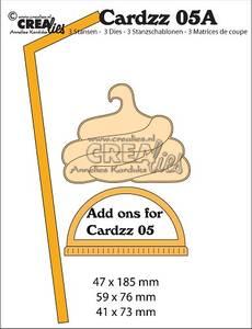 Bilde av Crealies - Dies - Cardzz   5A - Add ons for Mug to go (cardsize)