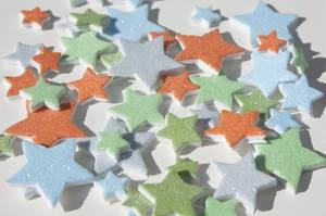 Bilde av Storyteller - 3D glitterstjerner, blå, grønn og orange