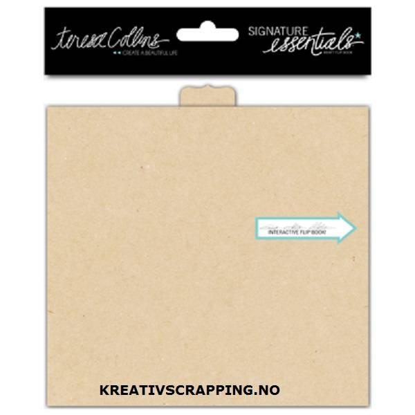 Teresa Collins - Signature Essentials - Flip Book -4x5,5 -Kraft