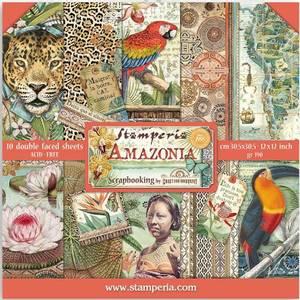 Bilde av Stamperia - 12x12 Paper Pack - 83 - Amazonia