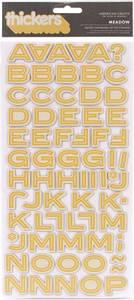 Bilde av Thickers - 53166 - Printed Chipboard - White & Yellow - Meadow