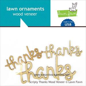 Bilde av LAWN FAWN - WOOD VENEER LF871 - THANKS