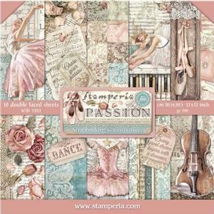Bilde av Stamperia - 12x12 Paper Pack - 84 - Passion