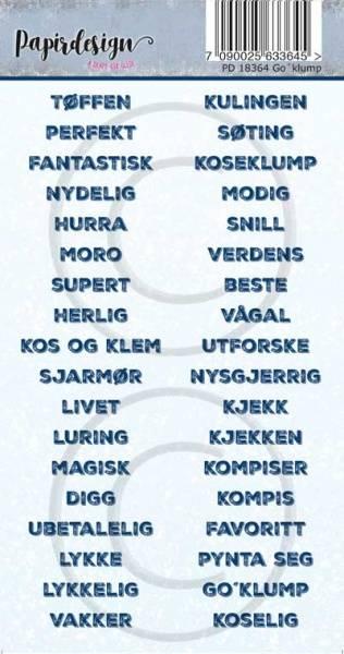 Papirdesign - Klistremerker - 18364 - Go klump