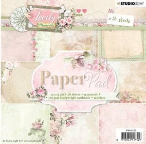 Bilde av Studiolight -  123 - PaperPad 15x15cm - PPLM123 - Lovely Moments