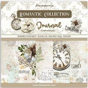 Bilde av Stamperia - 12x12 Paper Pack - 86 - Romantic Journal