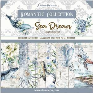 Bilde av Stamperia - 12x12 Paper Pack - 87 - Romantic Sea Dream