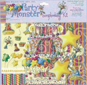 Bilde av Carol Wilson Fine Arts - Scrapbooking Kit - Monster Party