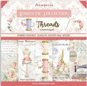 Bilde av Stamperia - 12x12 Paper Pack - 88 - Romantic Threads